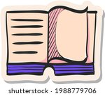 hand drawn books icon in...   Shutterstock .eps vector #1988779706