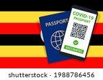 covid 19 passport on uganda... | Shutterstock .eps vector #1988786456