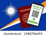 covid 19 passport on marshall... | Shutterstock .eps vector #1988786693