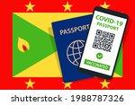 covid 19 passport on grenada... | Shutterstock .eps vector #1988787326