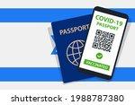 covid 19 passport on israel... | Shutterstock .eps vector #1988787380