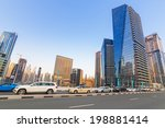 dubai  uae   march 30  traffic... | Shutterstock . vector #198881414