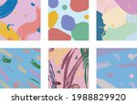set of six abstract backgrounds ... | Shutterstock .eps vector #1988829920