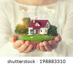 small fantastic island with a... | Shutterstock . vector #198883310
