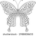 vector coloring page with a... | Shutterstock .eps vector #1988838653