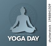 international yoga day. yoga... | Shutterstock .eps vector #1988841509
