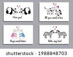 set of creative romantic cards...   Shutterstock .eps vector #1988848703