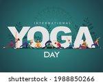 international yoga day. yoga... | Shutterstock .eps vector #1988850266