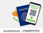 covid 19 passport on cyprus... | Shutterstock .eps vector #1988859593