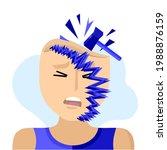 headache  migraine  visual aura.... | Shutterstock .eps vector #1988876159