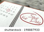 save the date important day... | Shutterstock . vector #198887933