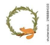 cute cartoon squirrel sitting... | Shutterstock .eps vector #1988884103