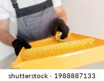 Closeup Yellow Roller For...