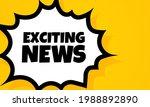 exciting news speech bubble...   Shutterstock .eps vector #1988892890