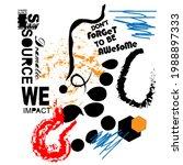 color geometric writing slogan... | Shutterstock .eps vector #1988897333