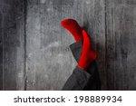 legs up the wall  putting feet... | Shutterstock . vector #198889934