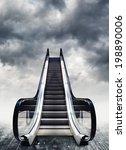 escalators  conceptual image.... | Shutterstock . vector #198890006