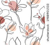 hand drawn magnolia flower.... | Shutterstock .eps vector #1988901533