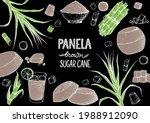 panela sugar sketch. hand drawn ... | Shutterstock .eps vector #1988912090