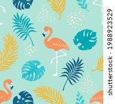 tropical pattern. vector... | Shutterstock .eps vector #1988923529