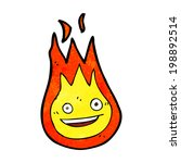 cartoon friendly fireball | Shutterstock . vector #198892514
