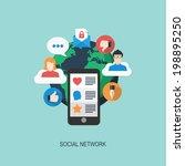 social network | Shutterstock .eps vector #198895250