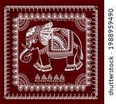 Warli Painting With An Elephant ...