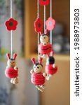 Wooden Hanging Ladybug...