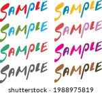 sample character sample...   Shutterstock .eps vector #1988975819