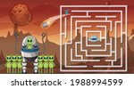 maze game with space theme... | Shutterstock .eps vector #1988994599