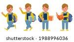 set of children character... | Shutterstock .eps vector #1988996036