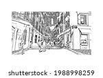 building view with landmark of... | Shutterstock .eps vector #1988998259