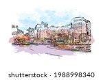 building view with landmark of... | Shutterstock .eps vector #1988998340