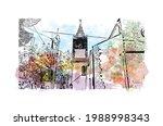 building view with landmark of... | Shutterstock .eps vector #1988998343
