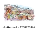 building view with landmark of... | Shutterstock .eps vector #1988998346