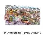 building view with landmark of... | Shutterstock .eps vector #1988998349