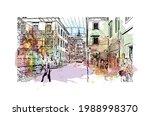 building view with landmark of... | Shutterstock .eps vector #1988998370