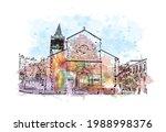 building view with landmark of... | Shutterstock .eps vector #1988998376