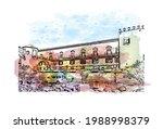 building view with landmark of... | Shutterstock .eps vector #1988998379