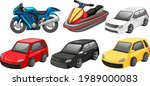 set of different cars isolated... | Shutterstock .eps vector #1989000083