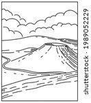 mono line illustration of mauna ... | Shutterstock .eps vector #1989052229