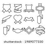 ribbon banner label and award...   Shutterstock .eps vector #1989077330