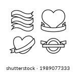 ribbon banner label and award...   Shutterstock .eps vector #1989077333
