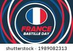 bastille day in france.... | Shutterstock .eps vector #1989082313