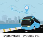 bus and the city service... | Shutterstock .eps vector #1989087143