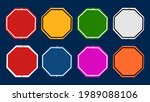 set of multicolored road signs... | Shutterstock .eps vector #1989088106