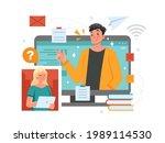 online class  e learning ...   Shutterstock .eps vector #1989114530