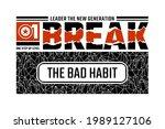 break the bad habit  modern and ... | Shutterstock .eps vector #1989127106