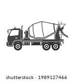 illustration of cement truck ... | Shutterstock .eps vector #1989127466