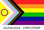 new lgbtq pride flag vector.... | Shutterstock .eps vector #1989129689